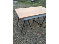 Large Solid wood dining table with 4 chairs