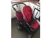 Oyster max tandem double pushchair