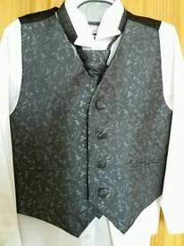 Boys wedding waistcoat and cravat set