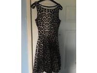 Lovely leopard print dress size 8.