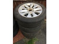 VARIOUS CAR ALLOYS & TYRES - BMW E30 / MINI / VAG