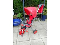 red star childs trike with parent handle