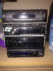 Sony, Alpine cd players car stereo also Mercedes (3 STEREO SYSTEMS) ONLY £20 EACH!!!