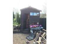 2 story wooden playhouse
