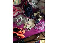 Mixed bundle of girls shoes trainers