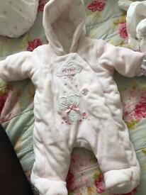 Mothercare tiny baby snowsuit