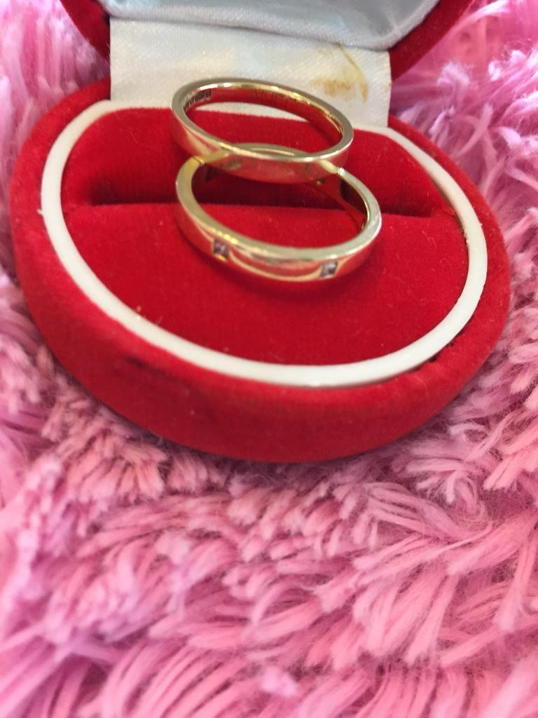 18ct yellow gold e diamond wedding ring set | in Chapel St Leonards ...