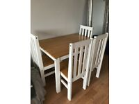 Dining Table and 4 Chairs Good Condition
