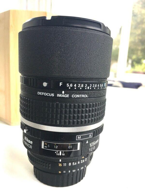 Nikon NIKKOR 105mm f/2 AF DC Defocus Lens -Excellent conditions -USA model