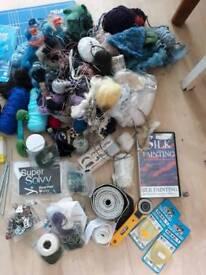 Huge bundle craft, wool,sewing