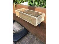 Garden planters wooden boxes