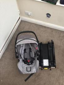 Recarro car seat and isofix base