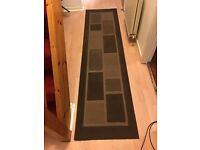 ***HALL RUNNER RUG, CHOCOLATE BROWN, GOOD CONDITION***