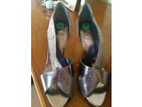"""New designer silver shoes by Sacha of London size 4...height 4.5"""""""