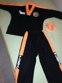 Active tigers suit with dipped foam gloves and boots