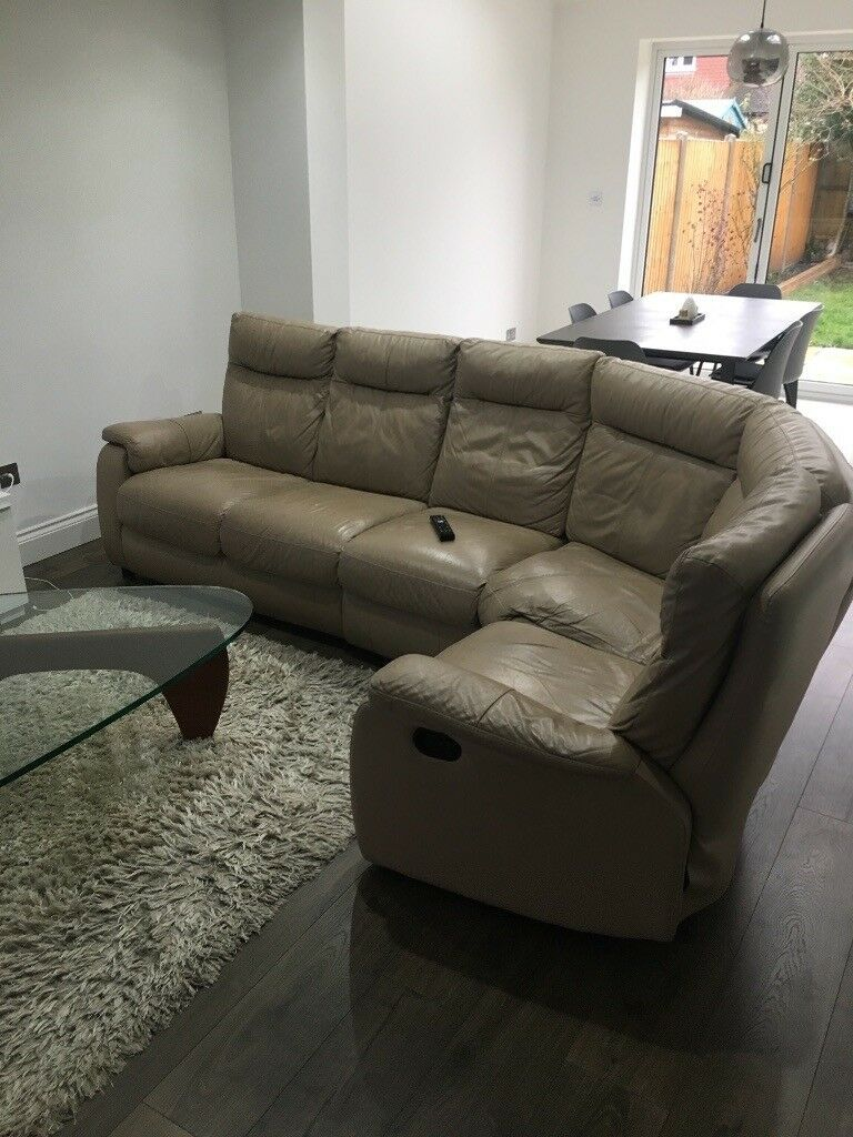 Corner Leather Sofa for Sale   in Sidcup, London   Gumtree
