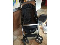 Excellent second hand pram with car seat-full travel system. Excellent condition.