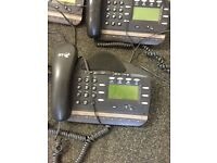 Telephone system with 4 phones, fax machine and accessories
