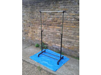 Clothes Rail Adjustable Mobile Coat Garment Hanging Rack Storage Stand On Wheels