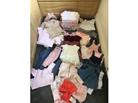 Baby girl clothes large bundle 3-6 months