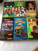VHS Movies - Dinosaurs, Scooby-Doo, 101 Dalmations & More