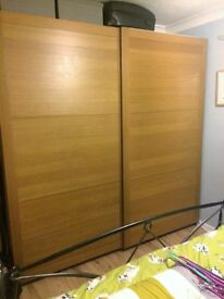 Ikea PAX wardrobe - double with sliding doors