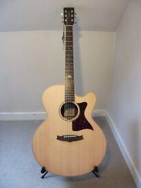 Tanglewood TW155 SS CE Premier range cutaway Super Jumbo electro acoustic guitar