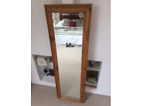 Tall pine mirror free staning or can be hung