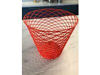 Oliver Bonas Neon Orange Wire Bin