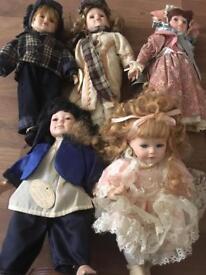 Porcelain Dolls x 10 £3 each