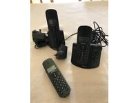 Phillips Cordless Phone Set - Two Base-Stations - Three handsets - Pre-Owned