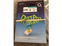 Data hungry o2 SIM card pay as you go free