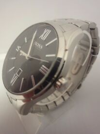 Hugo Boss Classic Designer watch nbr HB225.1.14.2679 ,has date & stainless steel