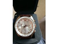 Men's rose gold Armani watch