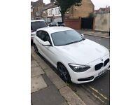 BMW 1 series 114i sport white 2013 2 door