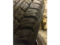 Four Dunlop tyres