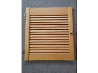 Louvred Cupboard Door. Wooden with hinges and handle...FREE