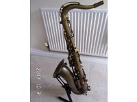 TREVOR JAMES RAW XS TENOR SAX, ANTIQUE FINISH.