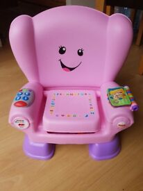 Fisher-Price Laugh & Learn Smart Stages Chair - Pink.Nearly NEW.