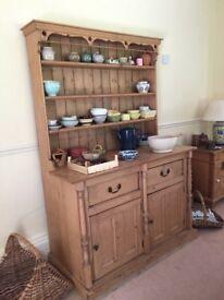 Antique Irish pine dresser circa 1860, excellant condition