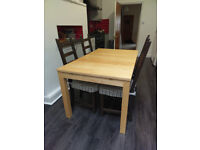 Ikea Extendable Table & 4 Chairs