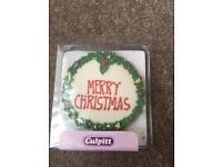 Merry Christmas sugar plaque *new*