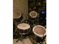 5 piece Pacific lx Series Drum kit with cymbal stands