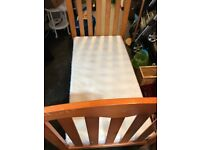 Pine Junior Bed with good condition mattress