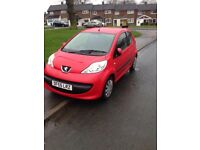Peugeot 107 in red *QUICK SALE*