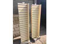 Slat wall 4sided spinner stands x2