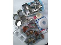 Mixed bundle baking moulds, biscuit cutters etc