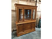 Beautiful Teak Finished Dresser/Sideboard with Glass Shleves