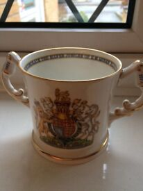 Aynsley kings and queens England silver jubilee cup