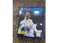 Ps4 game fifa 18 like new
